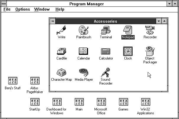 Screenshot Windows 3.1